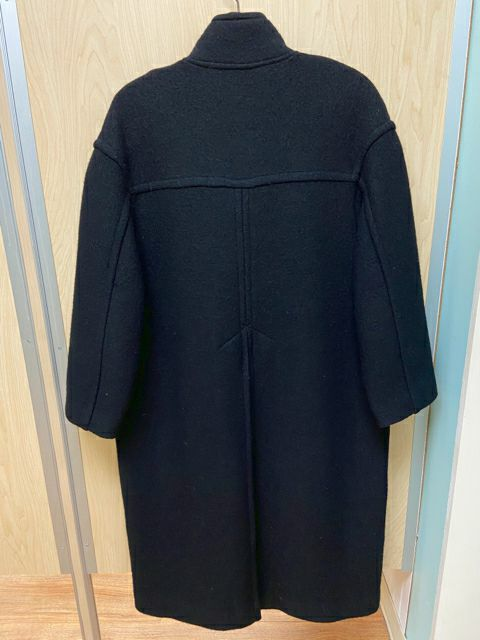 GEIGER BLACK WOOL TOGGLE COAT MEDIUM