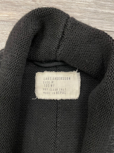 LARS ANDERSSON WOOL BELTED SWEATER SZ MEDIUM