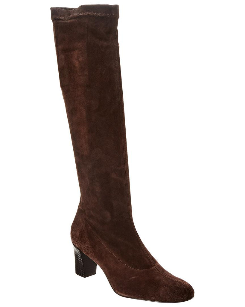 ROBERT CLERGERIE DISTEL TALL SUEDE BOOT BROWN   7.5