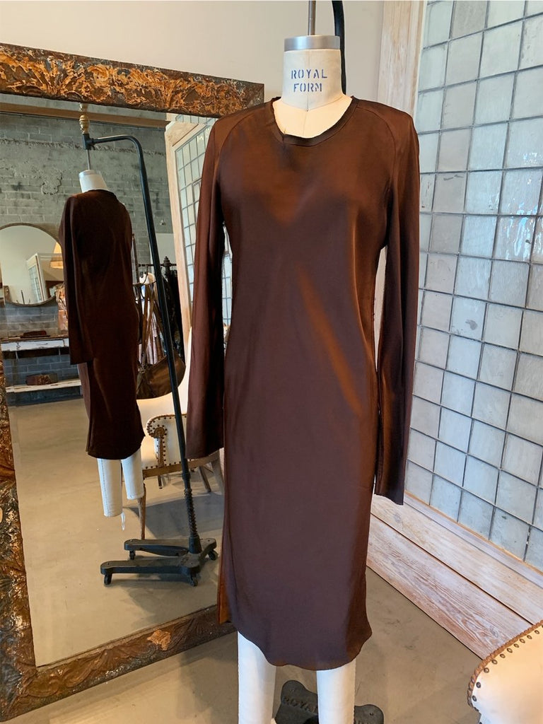 ILARIA NISTRI ROQUE VISCOSE MIDI DRESS SIZE XS