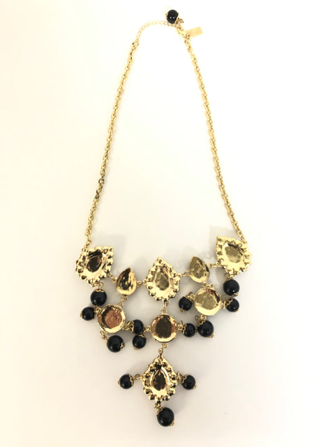 LILLY PULITZER BLACK GOLD SWEETHEART STATEMENT NECKLACE