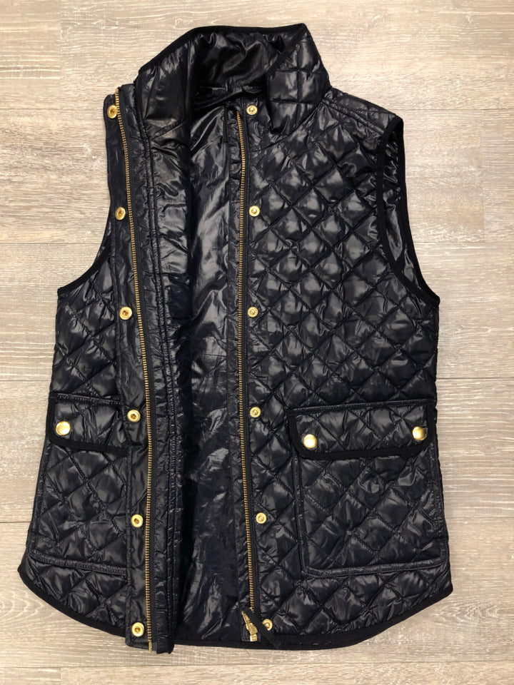 NWOT JCREW SHINY QUILTED FIELD VEST - wearhouseconsignment