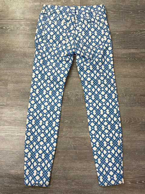 VINEYARD VINES LATTICE PRINT 5 POCKET SKINNY JEAN SZ 00