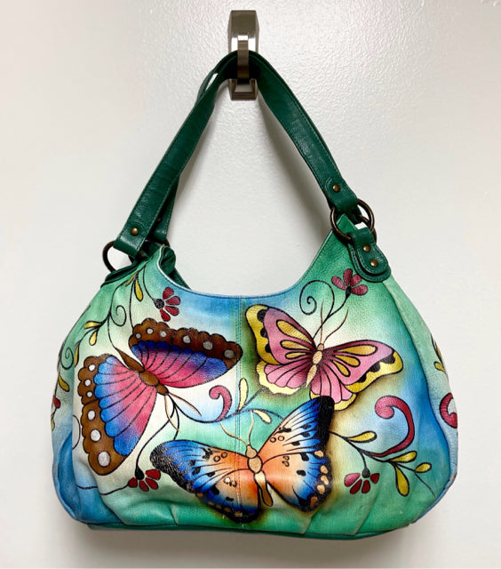 ANUSCHKA TRIPLE COMPARTMENT HOBO /BUTTERFLIES - wearhouseconsignment