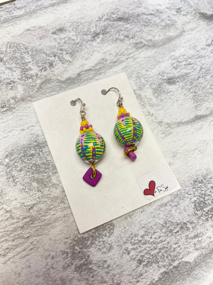 LOVE AT FIRST SIGHT HANDMADE EARRINGS