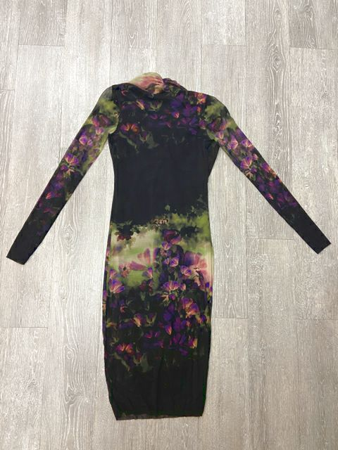 Size XS BLACK/PURPLE FUZZI WDRESS
