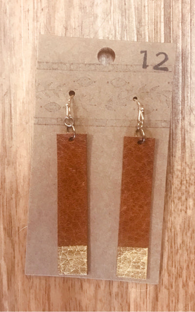 HANDCRAFTED LEATHER EARRINGS - wearhouseconsignment