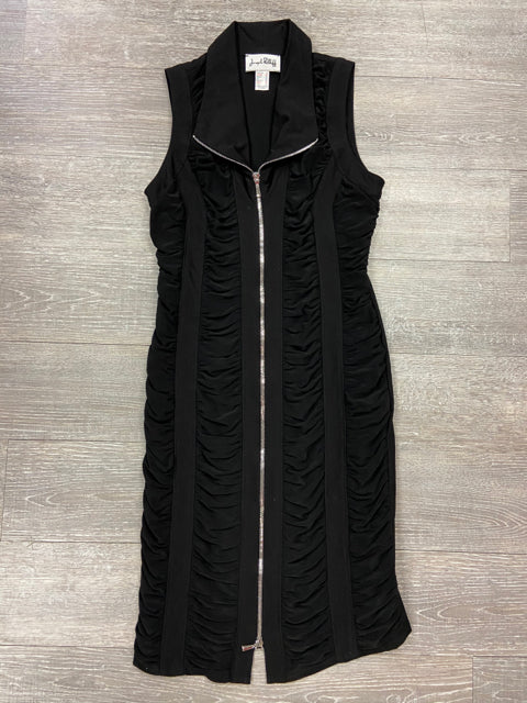 JOSEPH RIBKOFF ZIPPER FRONT DRESS BLACK SIZE 8