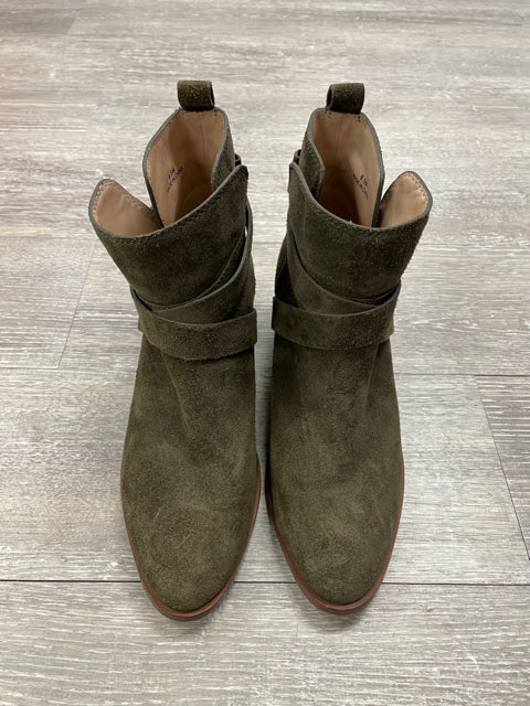 KATE SPADE POLLY ANKLE BOOT OLIVE SZ 8.5