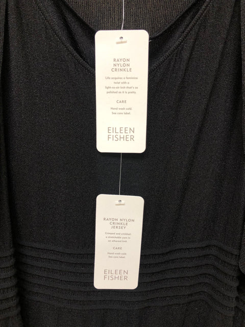 EILEEN FISHERRAYON NYLON CRINKLE JERSEY DRESS AND SHRUG LARGE