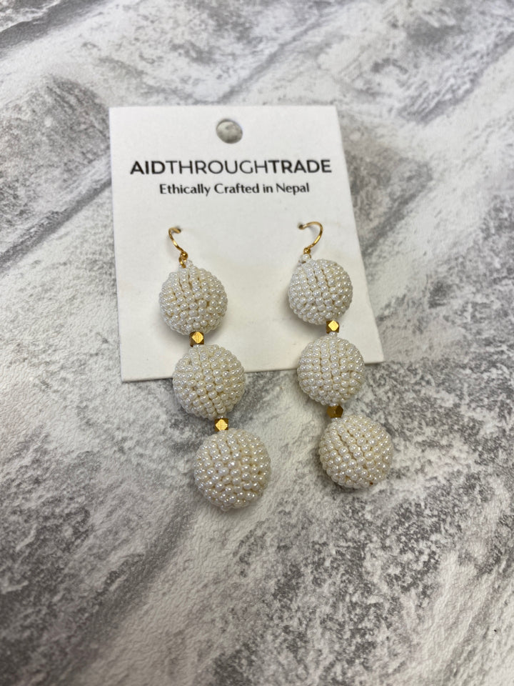 AID THROUGH TRADE BEADED CHARLIE DROP EARRINGS