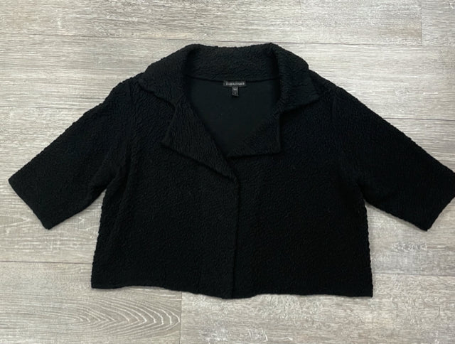 EILEEN FISHER CROPPED TEXTURED JACKET SIZE SMALL