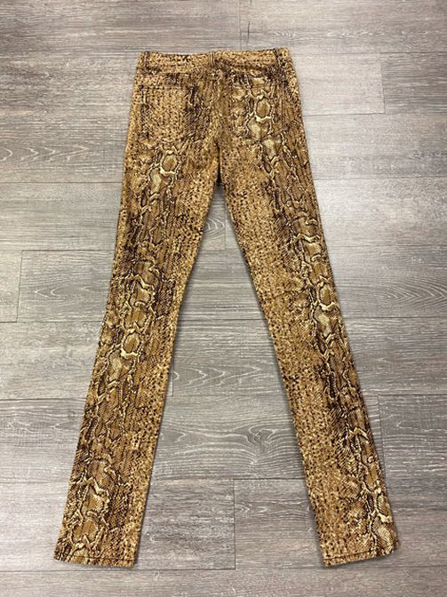 TORY BURCH SKINNY SNAKESKIN PRINT PANTS SIZE 25 - wearhouseconsignment