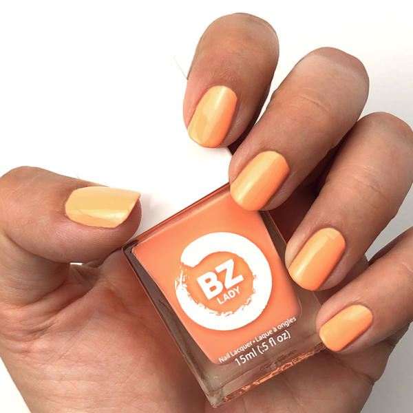 Vernis à ongles végan non-toxique orange BZ Lady Tahiti