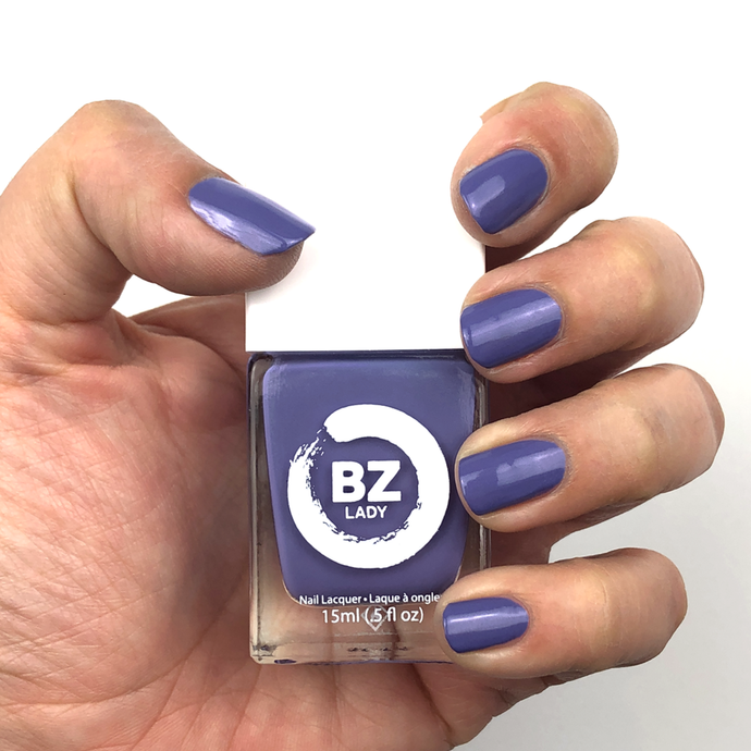 Vernis à ongles végan non-toxique mauve BZ Lady Prague