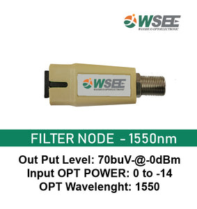 WSEE POWERLESS FILTER NODE 1550nm FEMALE