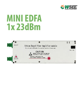 MINI EDFA 1X 23dBm Erbium-Doped Optical Amplifier
