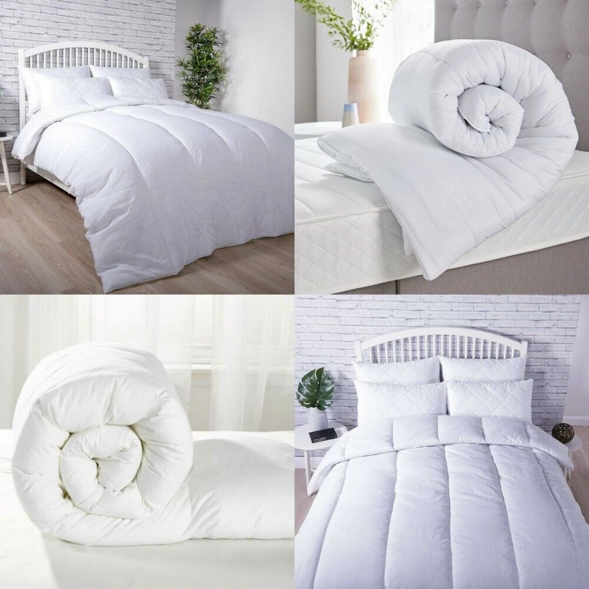 Hollowfibre Quilts and Duvets with 100% Cotton Cover