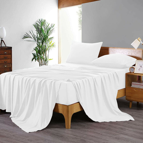 400 Thread Count Flat Sheet 100% Egyptian Cotton Top Sheets Double King Super King Bed Size - Threadnine