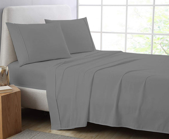 600 Thread Count Flat Sheet 100% Egyptian Cotton Double King Super King Bed Size Top Sheets - Threadnine