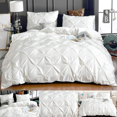 Check Duvet Cover Sets King Size Double Single Super Striped Bedding Quilt New