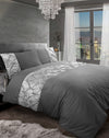 Crushed Velvet Duvet Cover Set 100% Egyptian Cotton Quilt Covers Bedding Sets Double King Super King Size - Threadnine