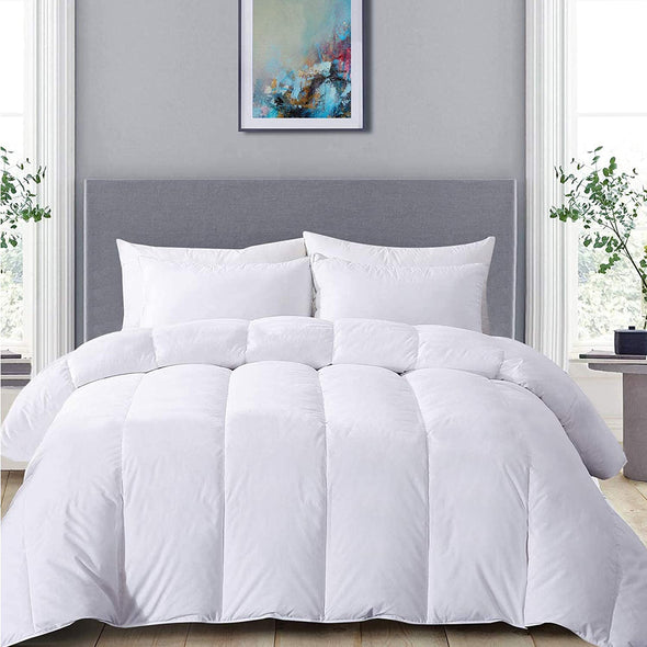 Hotel Quality Soft 100% Cotton Duvet Quilt 13.5 Tog Double King Bed Size - Threadnine