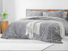 GREY DUVET COVER 100% EGYPTIAN COTTON QUILT COVERS BEDDING SETS DOUBLE KING SIZE - Threadnine