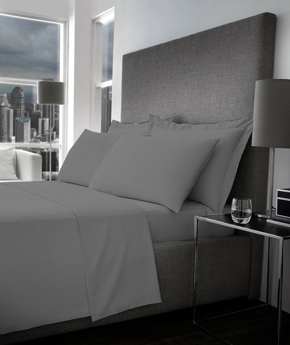 Flat Sheet 500 Thread Count 100% Egyptian Cotton Bed Sheets Double King Super King Size - Threadnine