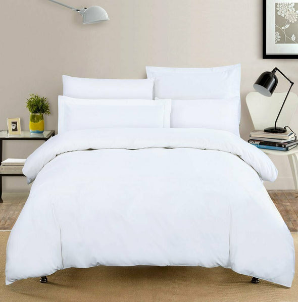 400 Thread Count Satin Duvet Cover With Pillowcases 100% Egyptian Cotton Bedding Set - Threadnine