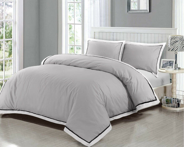 Mayfair Duvet Cover Set 400 Thread Count 100% Egyptian Cotton Quilt Covers Bedding Sets - Threadnine