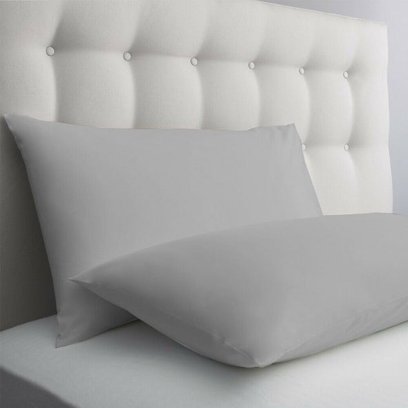 200 Thread Count Housewife Pillow Cases Pair 100% Egyptian Cotton Bed Covers - Threadnine