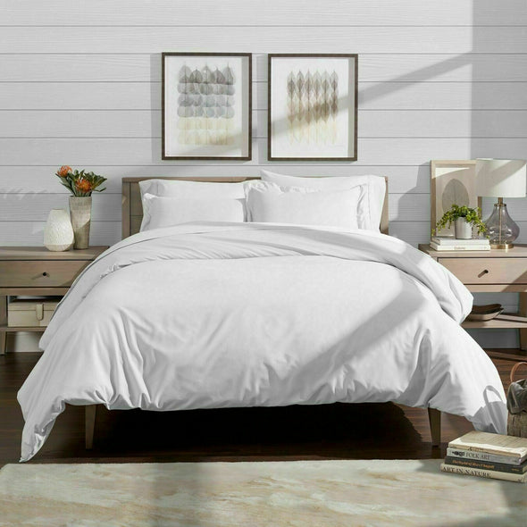 Duvet Cover Set 600 Thread Count 100% Egyptian Cotton Bedding Sets Double King Super King Size - Threadnine