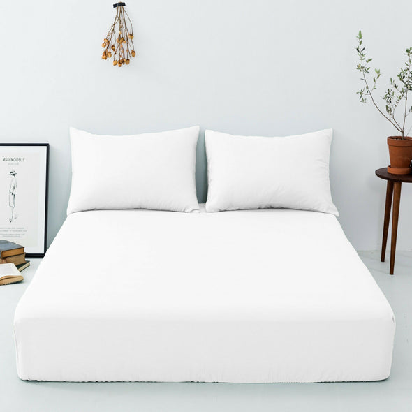 200 Thread Count Fitted Sheet 100% Egyptian Cotton Hotel Quality Bed Sheets All Sizes - Threadnine