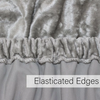 Velvet Divan Bed Base Valance Wrap Frame Cover Single Double Super King Size - Threadnine