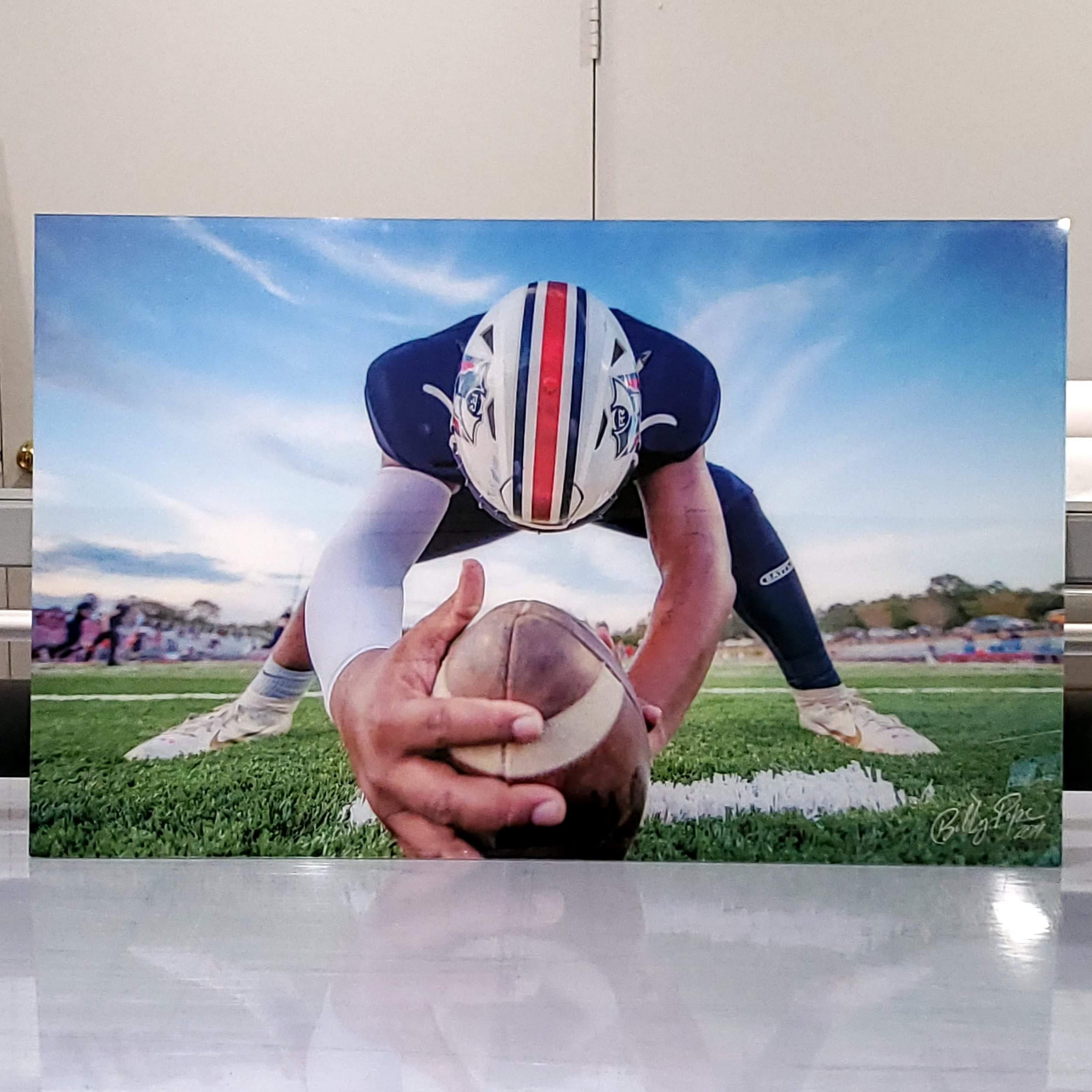 "Acrylic Photo Tile 3/4"" Floating Cleat Mount"