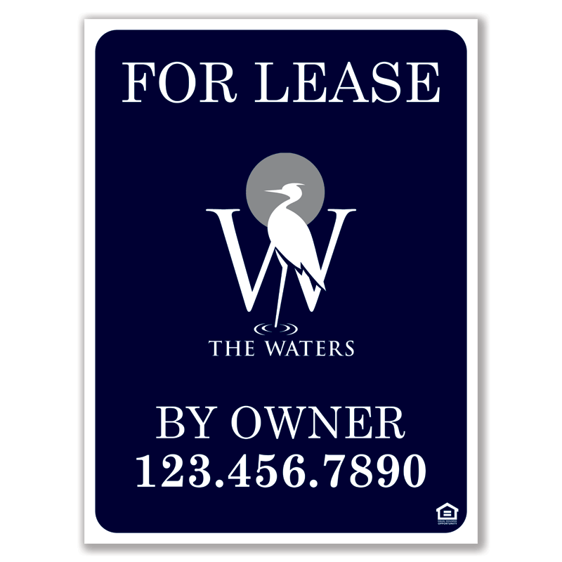 HOA Approved 18x24 Sign | The Waters
