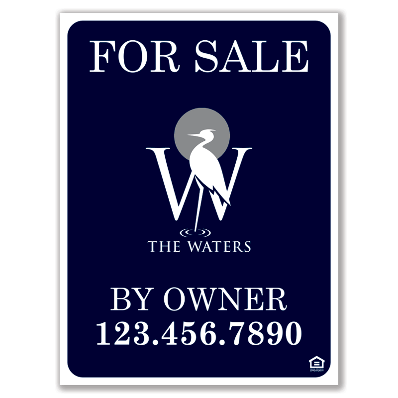 For Sale By Owner Sign | The Waters