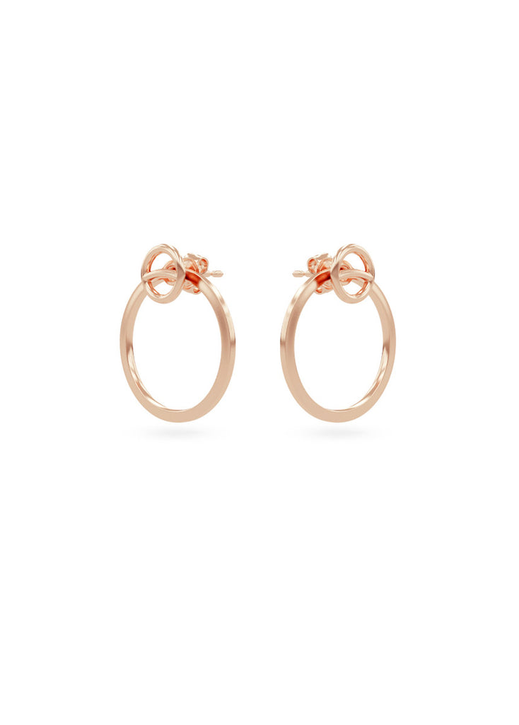 circle overlay earrings women s rose gold plated silver smith grey