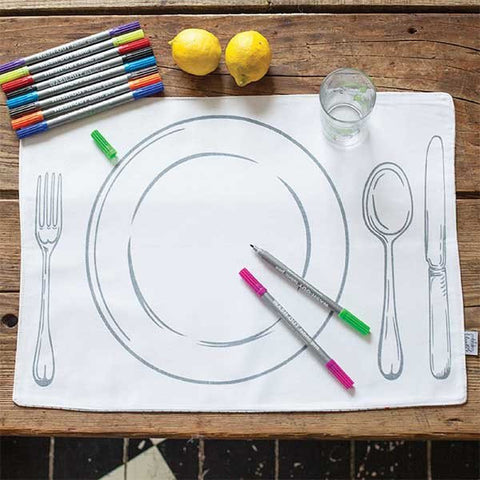 DOODLERS WRITABLE PLACEMAT SET