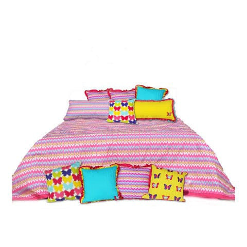 KALEIDOSCOPE DOUBLE BED COVER