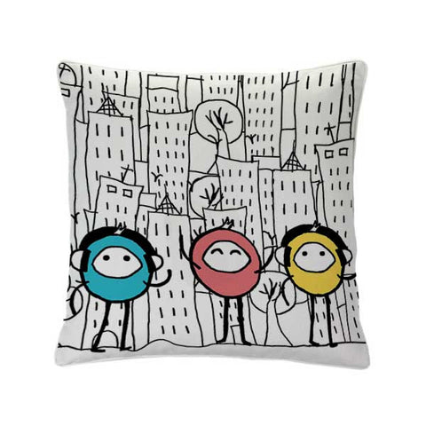 DOODLERS FRIENDS CUSHION COVER