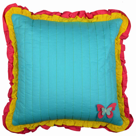 AQUA FLUTTER CUSHION COVER