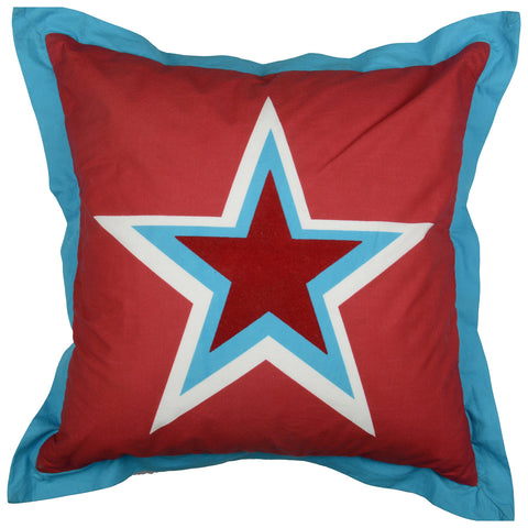 STAR RED ALERT CUSHION COVER