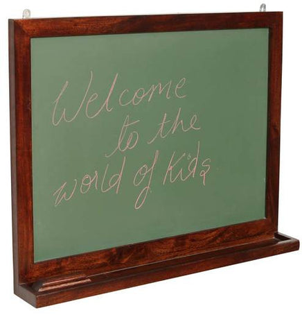 KIDS CHALK BOARD IN MAHOGANY FINISH