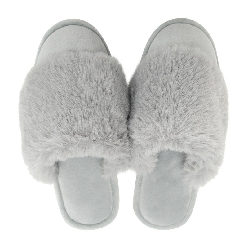 Annabel Trends Cosy Luxe Slippers - Grey
