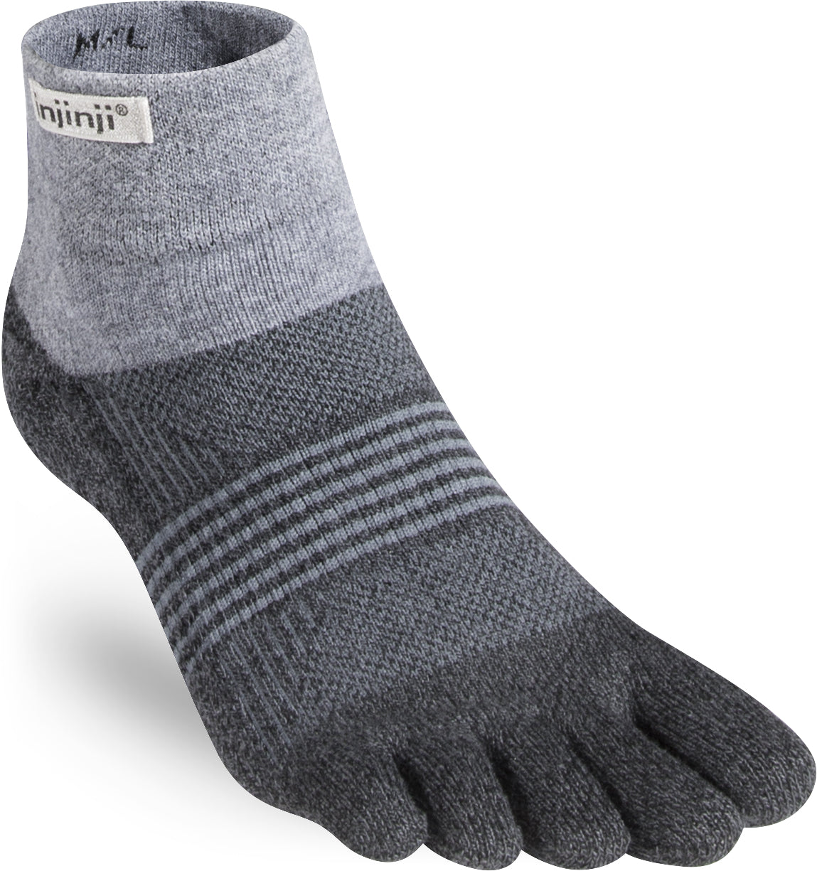Injinji TRAIL Women's Mini Crew - Granite