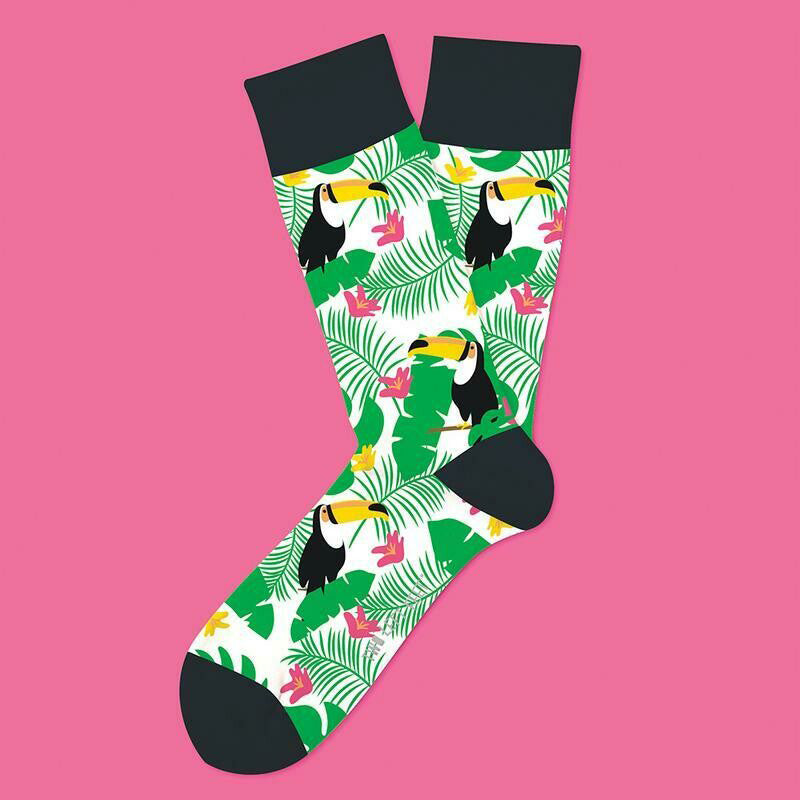 Two Left Feet® Tropical Tucan Everyday Socks