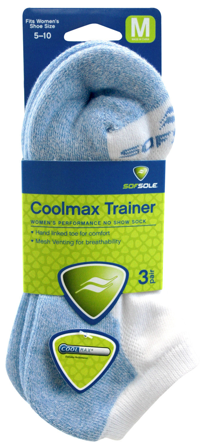 Sof Sole Women's Coolmax Socks - Trainer (3 pack)