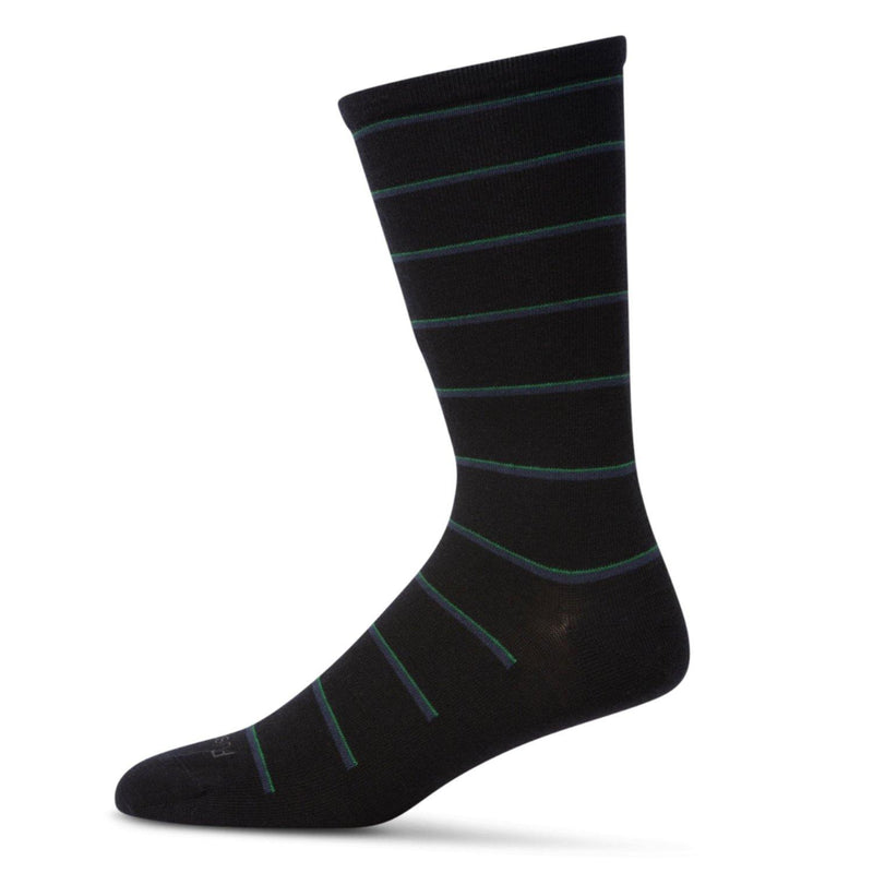 Pussyfoot Wool Non-Elastic Health Socks - Navy Stripe